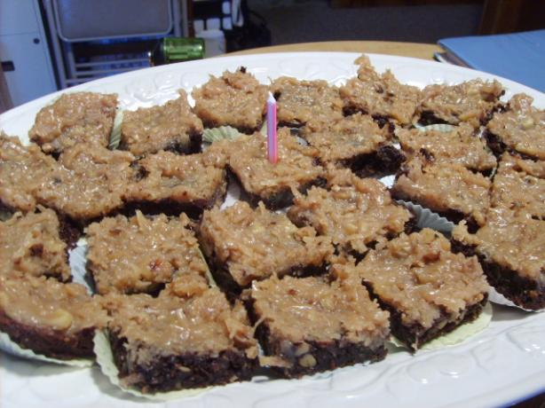 German Chocolate Bars. Photo by Chef on the coast
