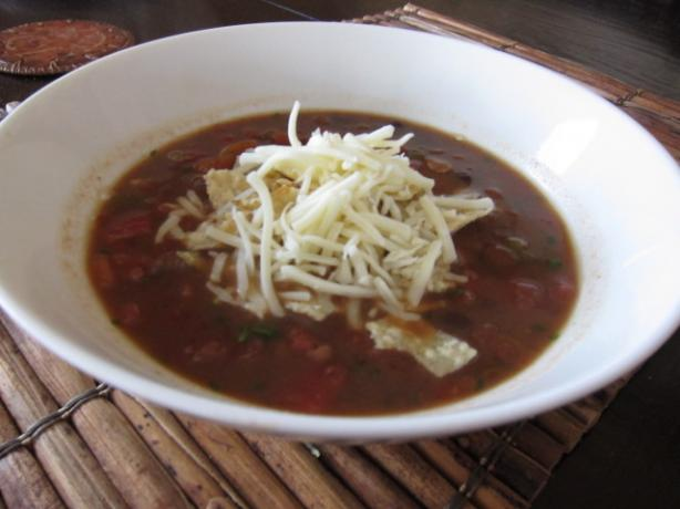 Creamy  Tortilla Soup-Vegetarian. Photo by Dr. Jenny