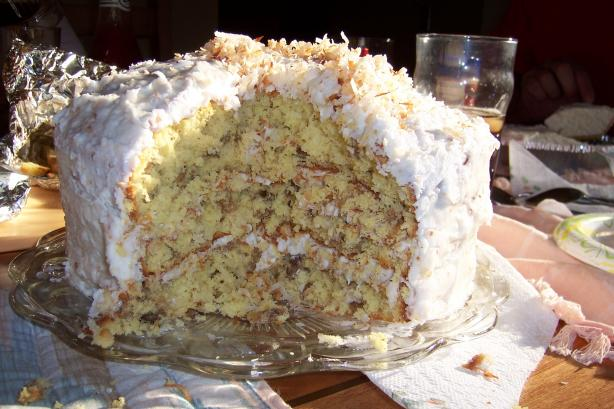 Rogene's Coconut Cake With Coconut Cream Cheese Frosting. Photo by Hill Family
