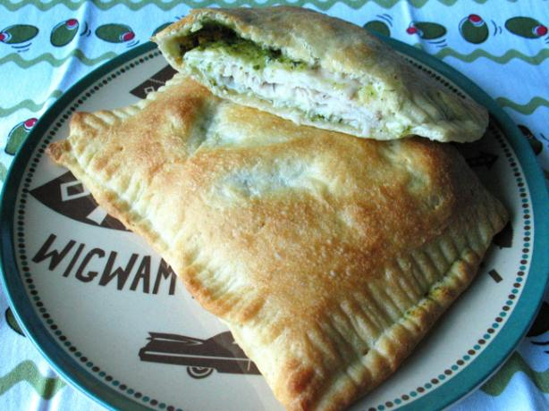 Turkey-Pesto Calzone. Photo by flower7