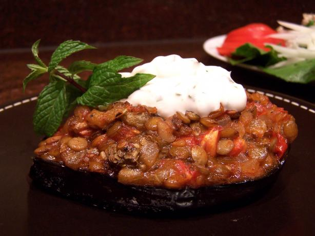Hot Stuff! Cypriot Stuffed Aubergines and Minty Cumin Yoghurt. Photo by Rita~