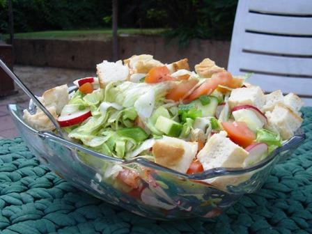 Fattoush - Toasted Bread Salad. Photo by Karen Elizabeth
