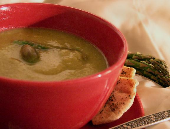 Uncle Bill&#39;s Asparagus Soup. Photo by justcallmetoni