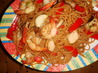 Ginger Chicken &amp; Shrimp Stir-Fry With Sesame Noodles. Recipe by anonymous23