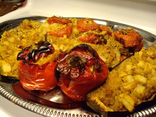 Mum's Yemista (Greek  Stuffed Vegetables With Rice). Photo by Nikoma