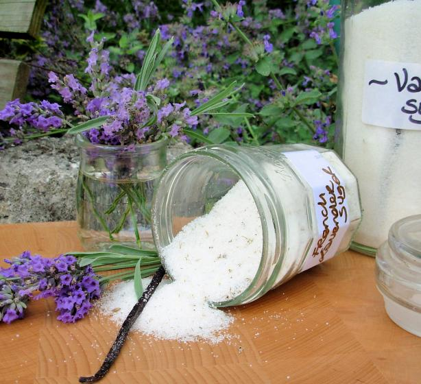 French Lavender and Vanilla Sugar for Elegant Cakes and Bakes. Photo by French Tart