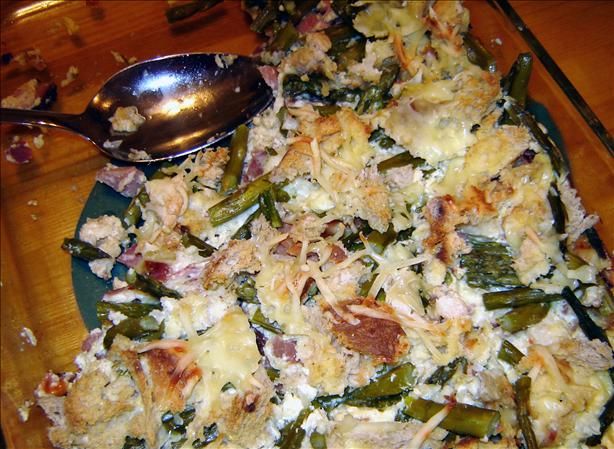Ham Asparagus Strata. Photo by MA HIKER
