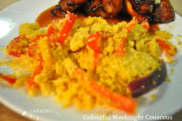 Colorful Weeknight Couscous. Photo by I'mPat