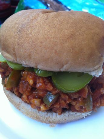 Tvp Vegan Sloppy Joes. Photo by JanuaryBride