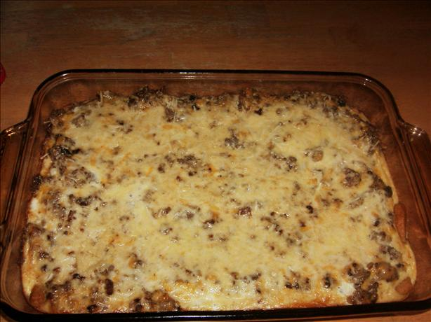 Crescent Crust Sausage Brunch Casserole. Photo by Janellyvanilly