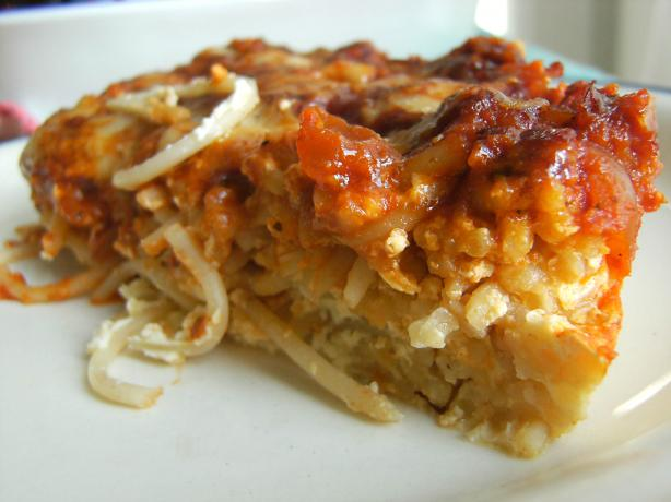 Baked Spaghetti Pie. Photo by Lalaloula