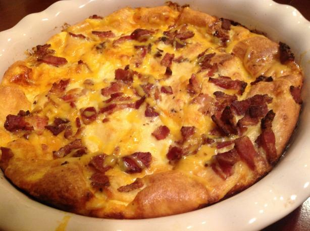 Christmas Breakfast Bacon Casserole. Photo by AZPARZYCH