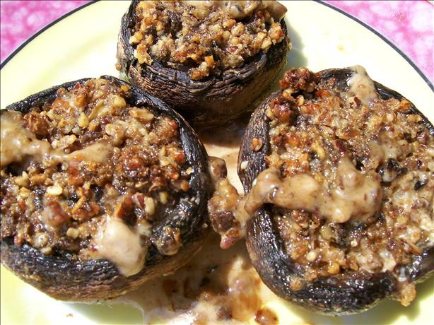 Pecan-Stuffed Mushrooms. Photo by Sharon123