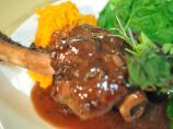 Braised Lamb Shanks in Orange-Merlot Sauce (Passover)
