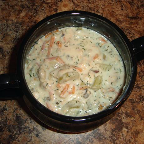 Slow Cooker Salmon Chowder. Photo by yogiclarebear