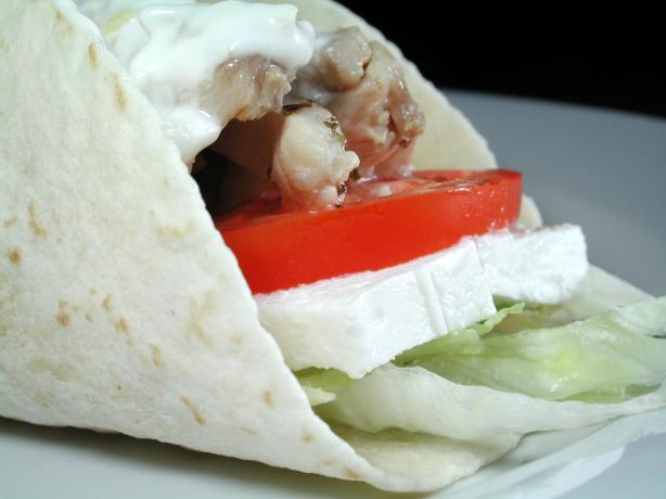 Chicken Souvlaki Wrap. Photo by Chef floWer