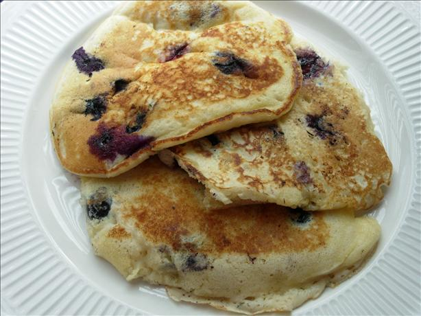 Blueberry Blueberry Sour Cream Pancakes. Photo by Loves2Teach