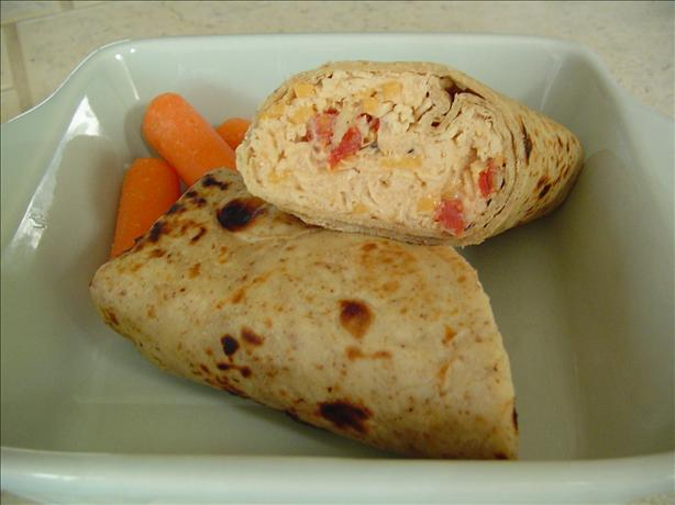 Low-Calorie Chicken 'salad' Wraps. Photo by jVo