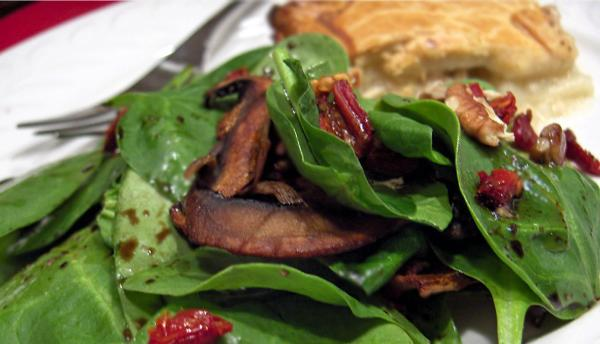 Spinach Salad With Pecans and Sun-Dried Tomato. Photo by Derf