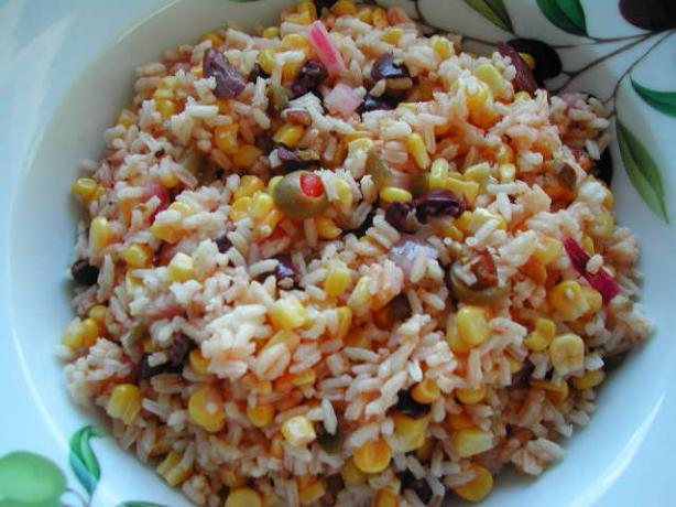 Comino Corn and Rice Salad. Photo by Kumquat the Cat's friend