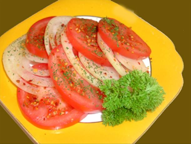 German Tomato Salad. Photo by Bergy
