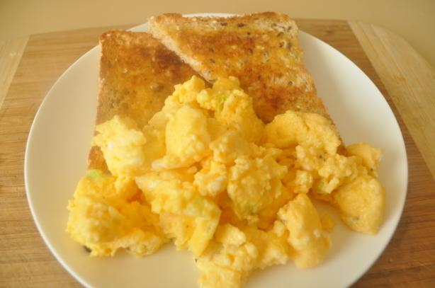 Buttery Microwave Scrambled Eggs for Two. Photo by I'mPat