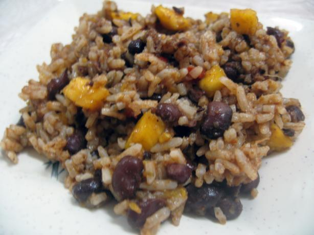 Spicy Black Beans and Rice With Mangoes (Crock Pot). Photo by Enjolinfam