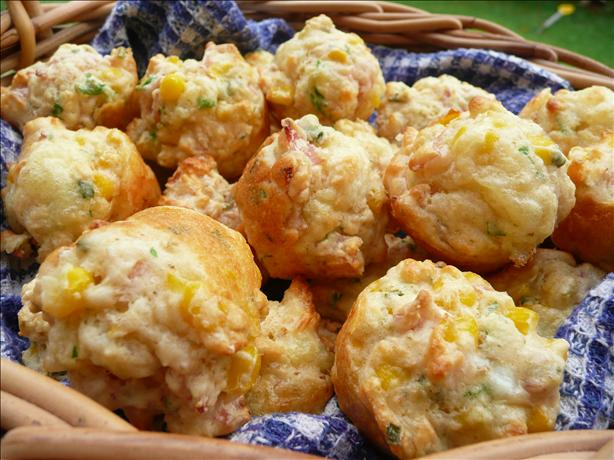 Mini Corn &amp; Ham Muffins. Photo by Stardustannie