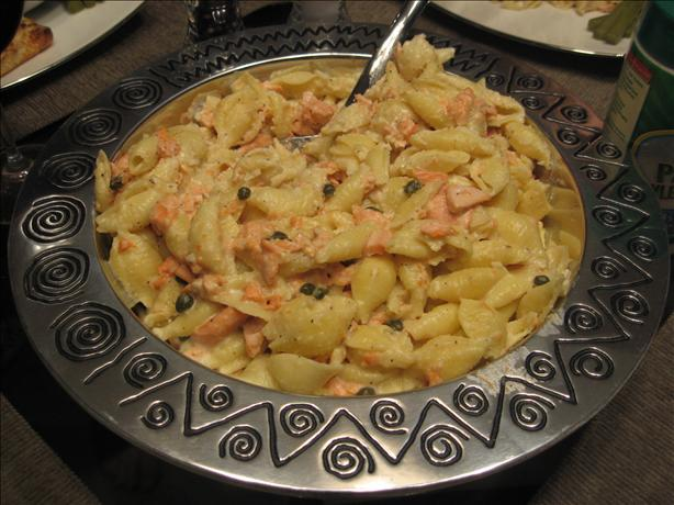 Salmon Pasta. Photo by Nurse Morgan