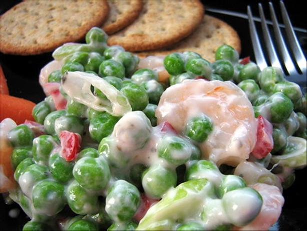 Shrimp Salad With Peas. Photo by Annacia