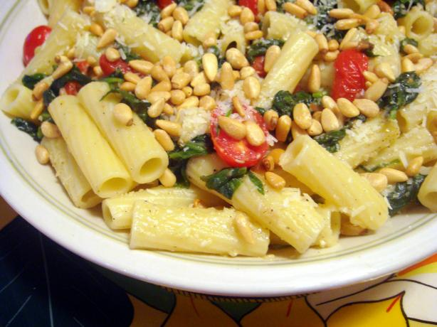 Penne With Spinach and Two Cheeses. Photo by Lori Mama
