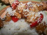 Yummy Sesame Chicken Skewers