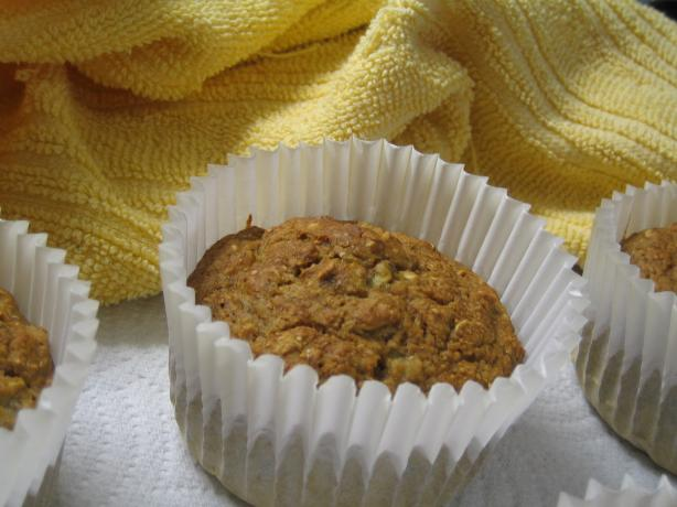 Best Ever Eggless Banana Oatmeal Muffins. Photo by brokenburner