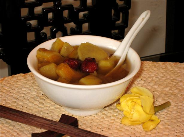 Traditional Chinese Sweet Potato & Ginger Dessert Soup. Photo by c.k. Alvin
