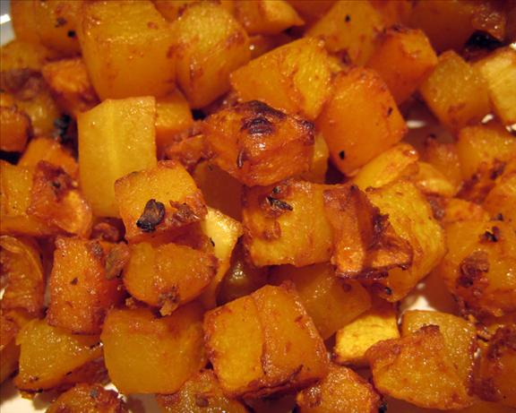Chipotle Maple Roasted Squash. Photo by yogiclarebear