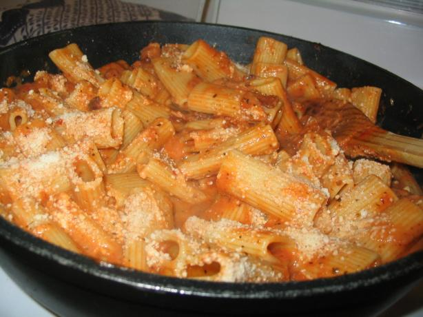 Rigatoni Milano. Photo by Lorrie in Montreal