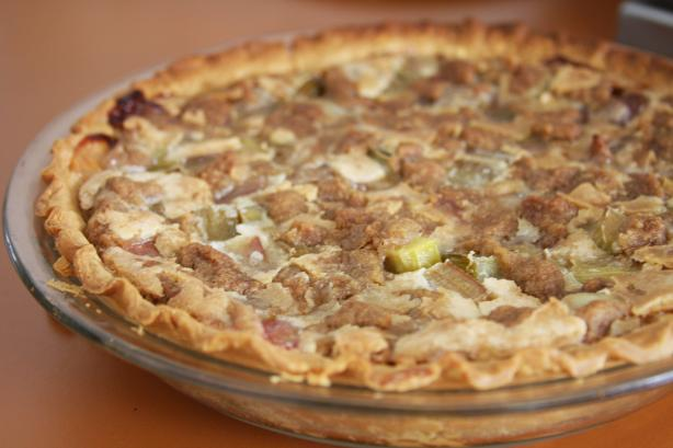 Irene's Rhubarb Custard Pie. Photo by Enjolinfam