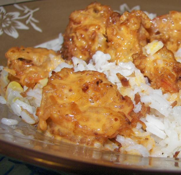 Coconut Shrimp With Red Curry Sauce. Photo by Baby Kato