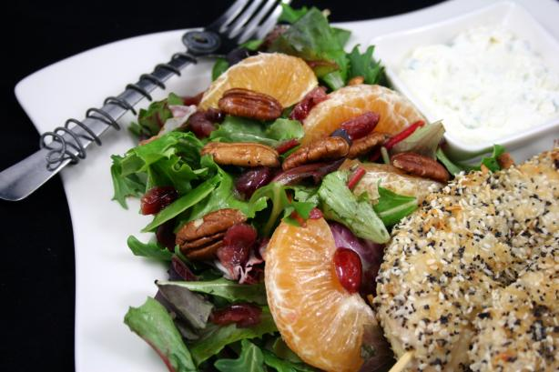 Mixed Green Salad With Oranges, Dried Cranberries and Pecans. Photo by **Tinkerbell**