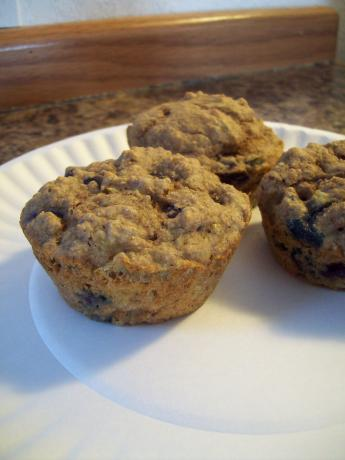 Kittencal's 1-Gram Low Fat Banana-Blueberry Muffins. Photo by Jadelabyrinth
