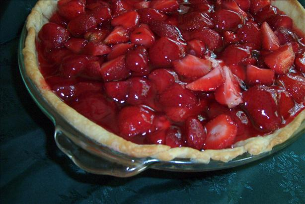 Kittencal&#39;s Strawberry-Glazed Pie. Photo by MsSally