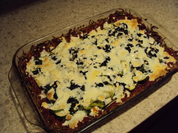 Vegetarian Spaghetti Pizza. Photo by Matt Reid