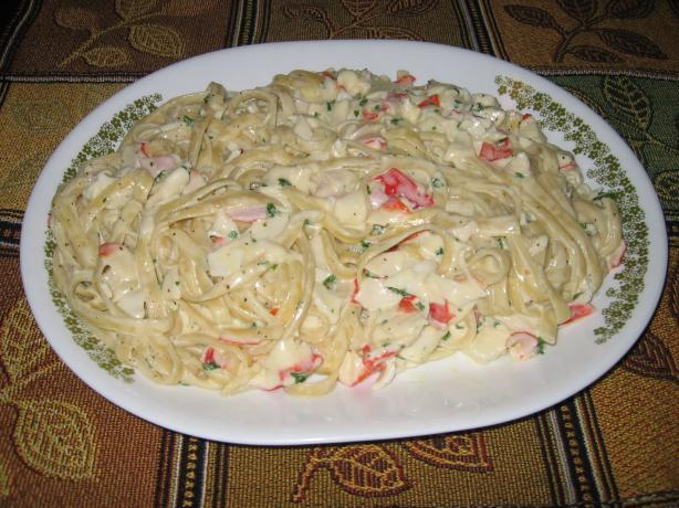Crab Fettuccine. Photo by Sharon the Rocket