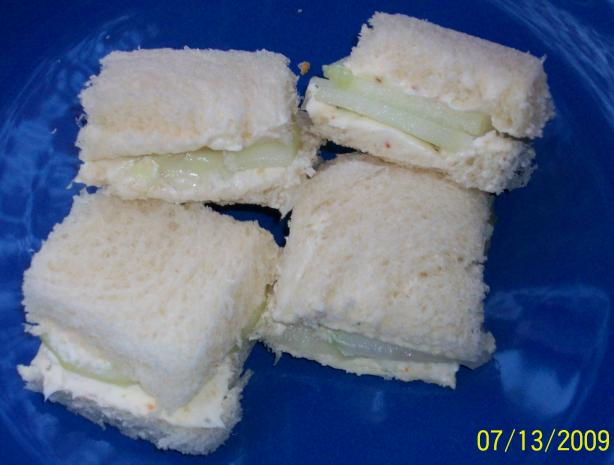 Cucumber and Cream Cheese Tea Sandwiches. Photo by internetnut