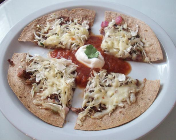 Healthy Mexican Tortilla Pizza. Photo by AlainaF