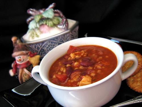 Delicious Chicken Barley Chili. Photo by Annacia