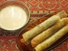 Wild Mushroom Spring Rolls With Chinese Mustard Dipping Sauce. Recipe by cookiedog
