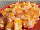 Cheese-Topped Sweet Potato Casserole