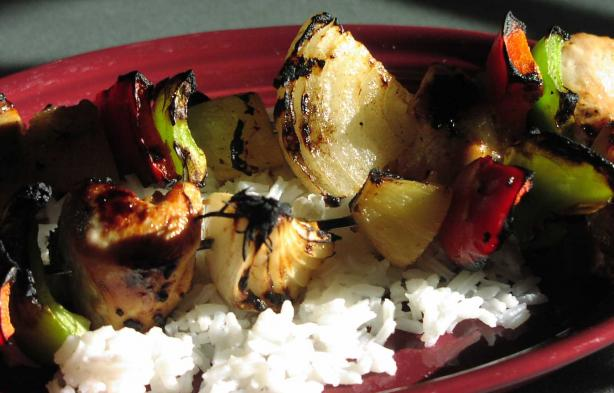 Hawaiian Chicken Kebabs - Weight Watchers. Photo by TeresaS