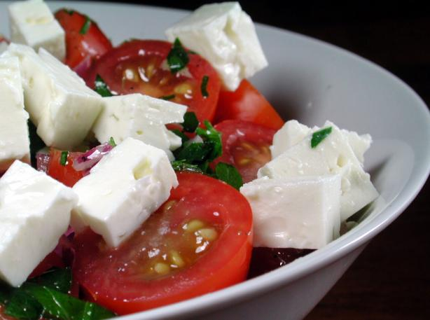 Tomato Feta Salad. Photo by Chef floWer